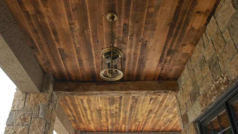Hand Hewn Beams and Paneling