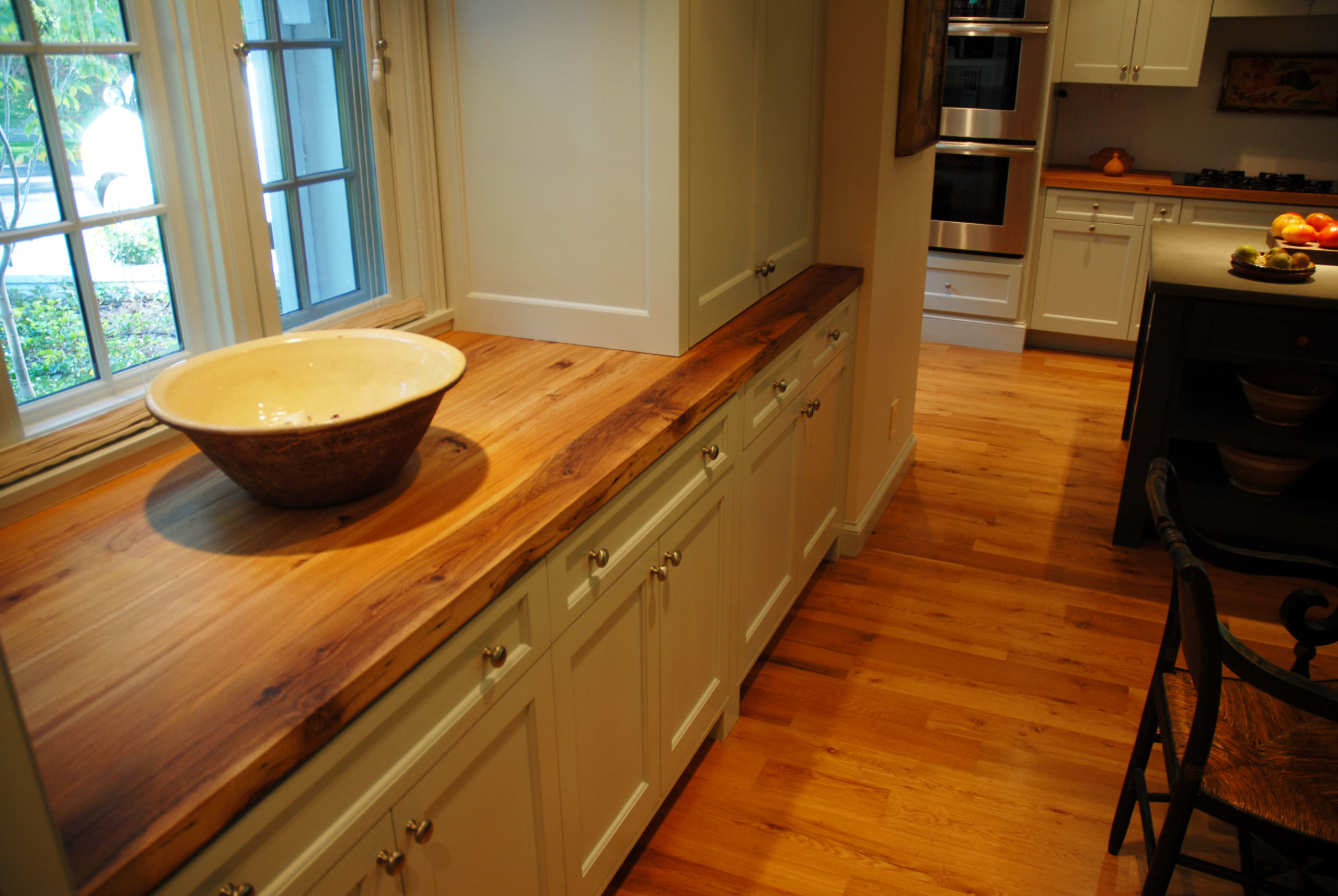 Antique White Oak-Select Floors and Hickory Countertops