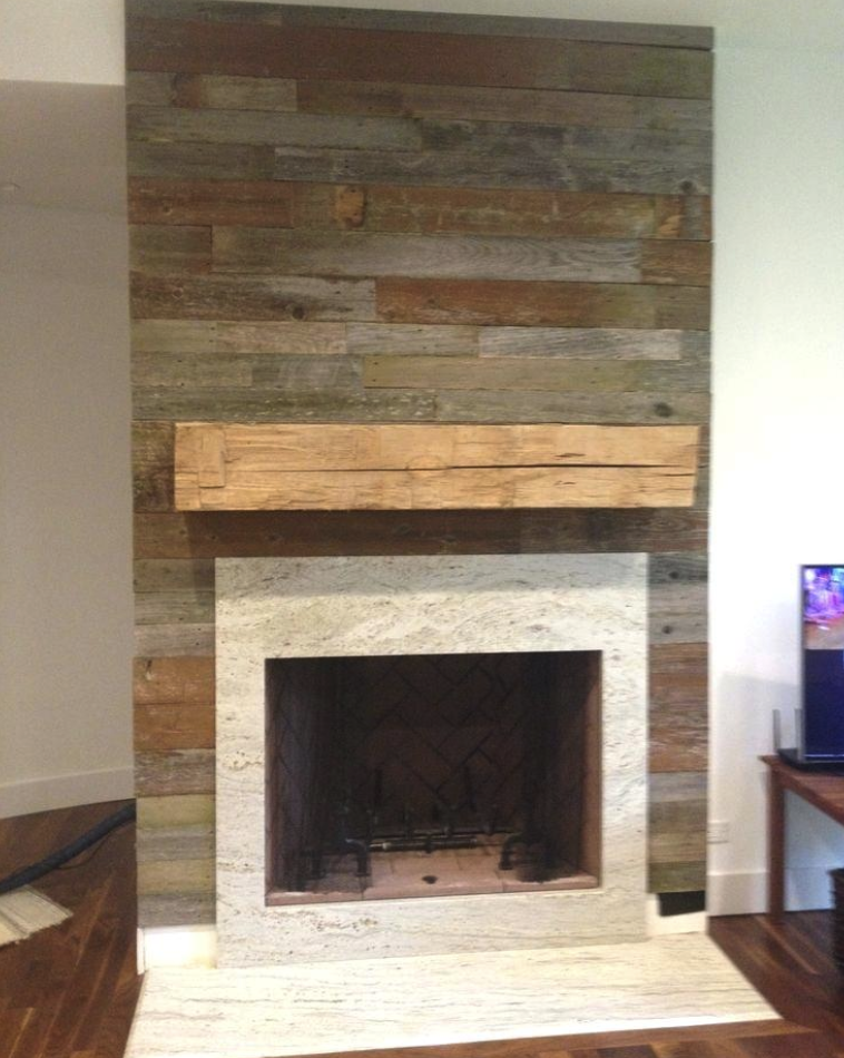 wood fire place surround