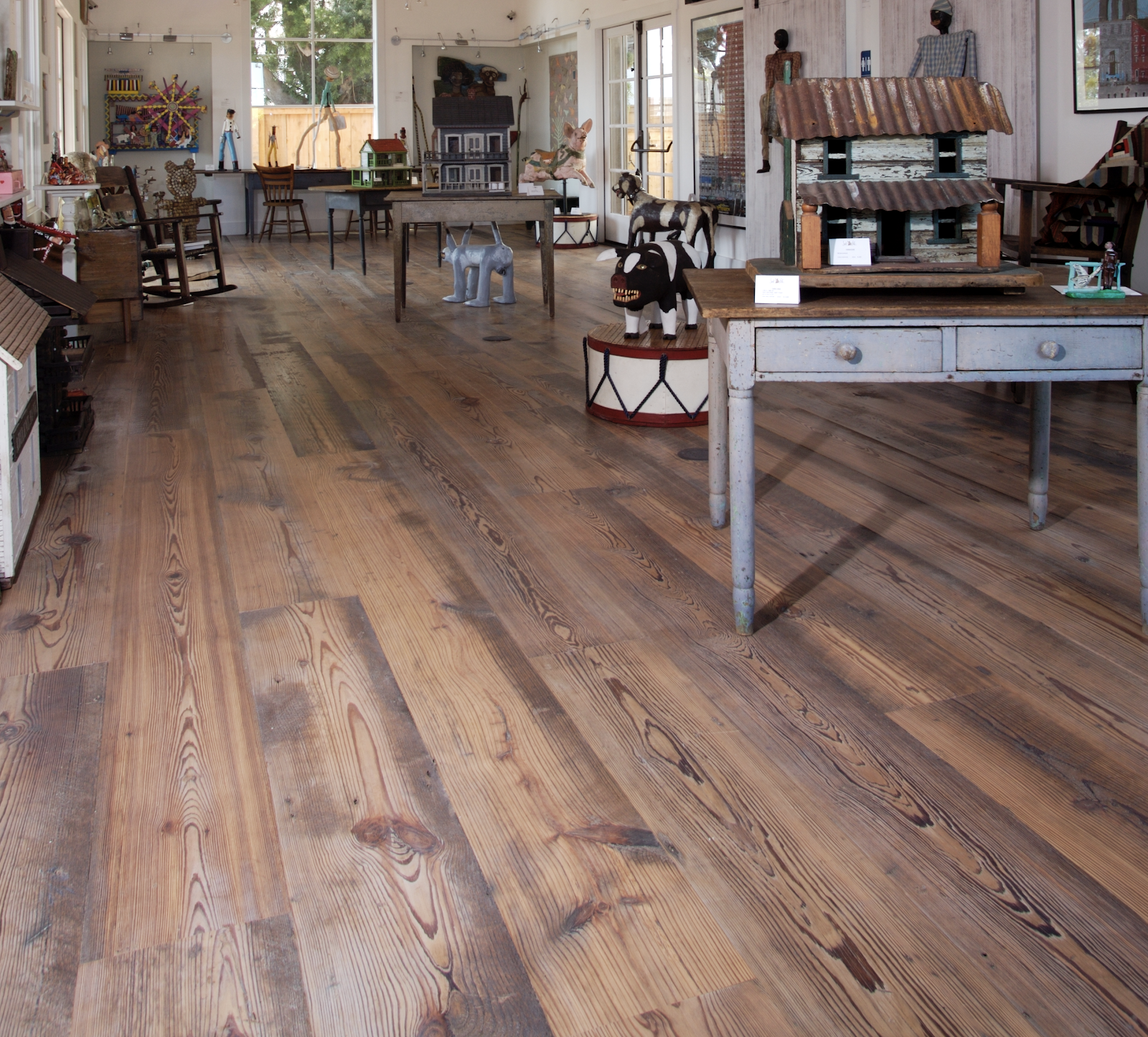 Distressed Hardwood Flooring 9 Design